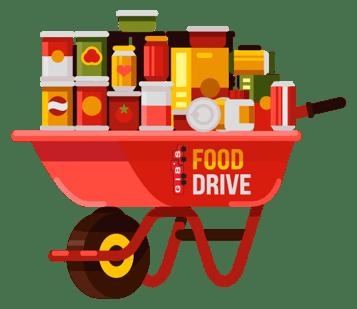 Food Drive Wheelbarrow
